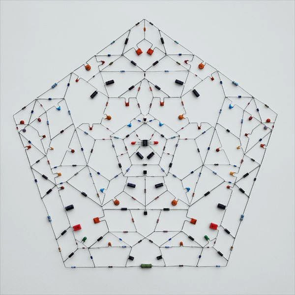 Technological Mandalas Made from Soldered electronic Components 4