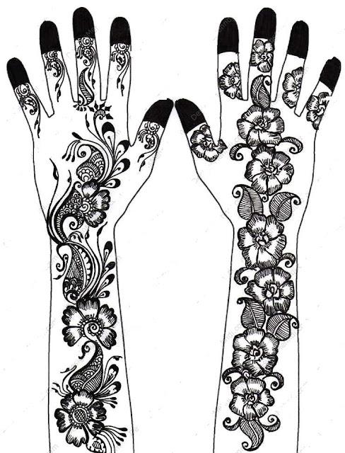 Swanky Fancy Floral Mehndi Design by TasneemArabic Mehendi Designs On Paper
