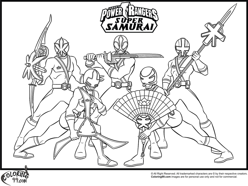 Power Rangers Samurai Sword Coloring