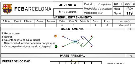Futbolbase: 175 SESIONES COMPLETAS ENTRENAMIENTO FC