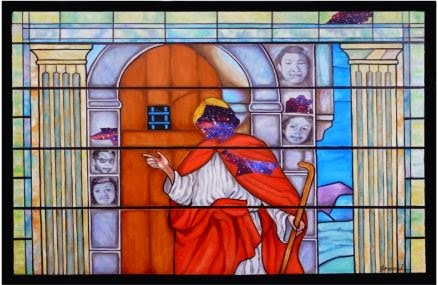 stained glass from Sixteenth Street Baptist Church bombing