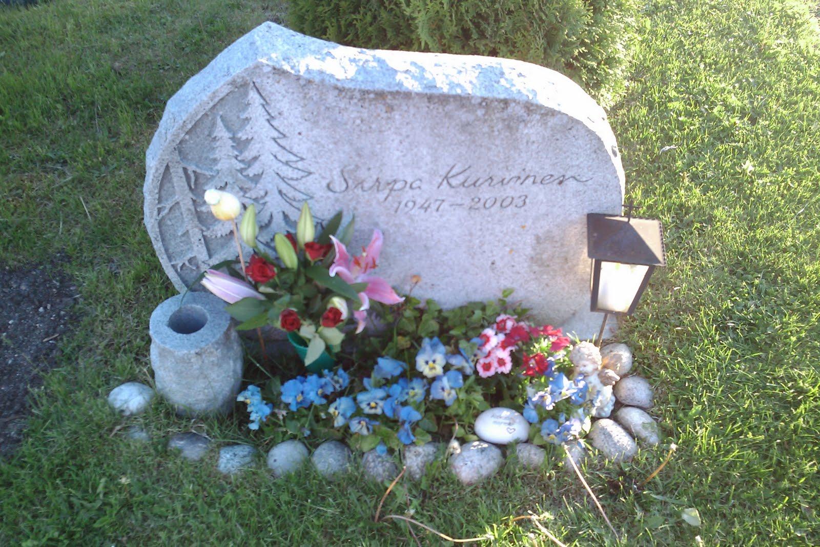 blommor på graven