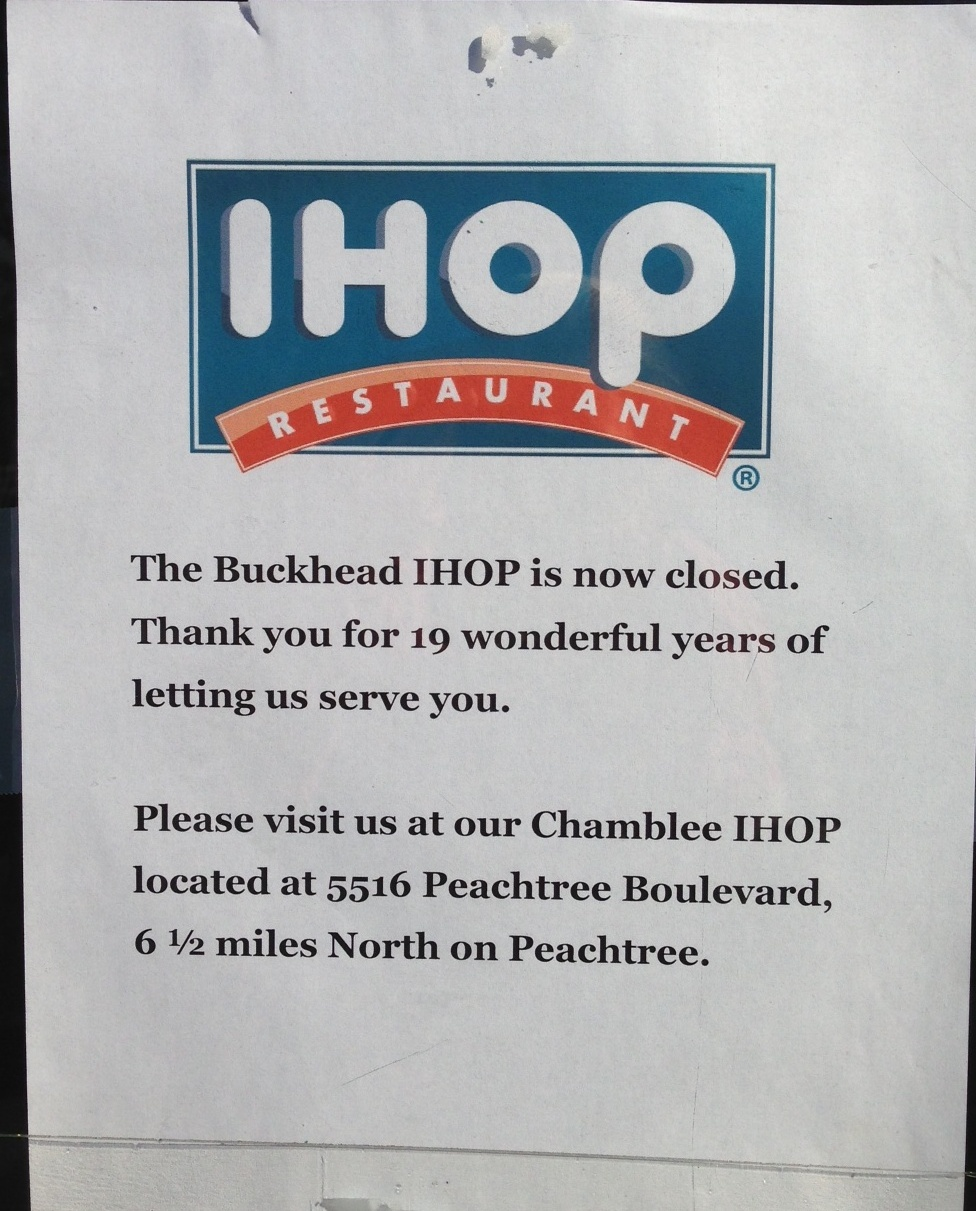 Tomorrow\'s News Today - Atlanta: IHOP Shutters its Buckhead Restaurant