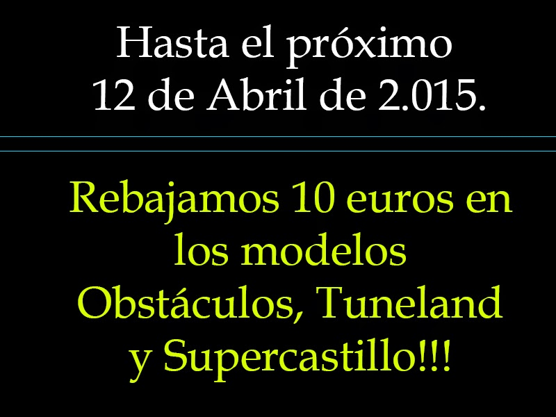 promoción alquiler de castillos hinchables en Murcia y Almeria