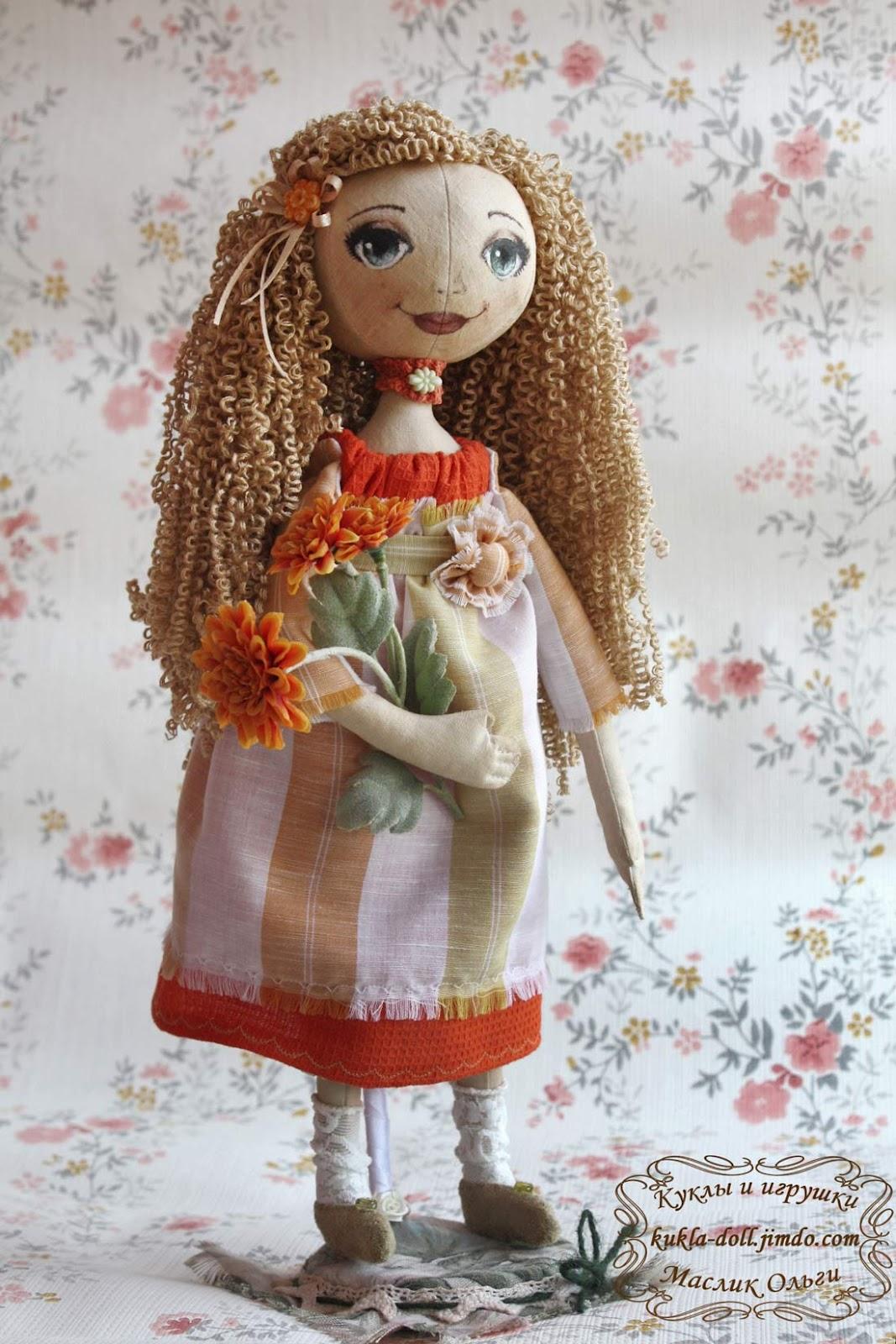 Мастер класс кукла тыквоголовка своими руками