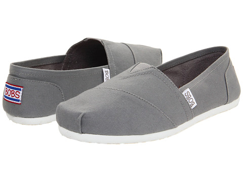 A classic style with upgraded comfort comes in the SKECHERS BOBS Plush - Peace and Love shoe. Soft woven canvas fabric upper in a slip on casual alpargata flat with stitching and overlay accents.