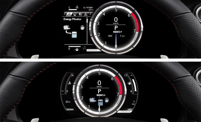 2013 Lexus IS 300h instruments