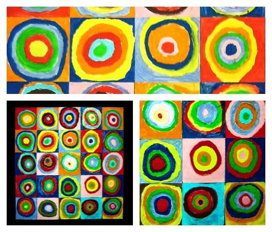 Quadrats amb cercles concèntrics