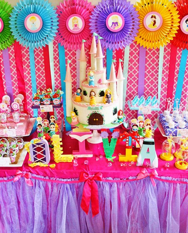 Decoraci n de fiestas infantiles de princesas disney for Decoracion cumpleanos princesas