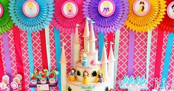 Decoraci n de fiestas infantiles de princesas disney - Fiestas de cumpleanos de princesas ...