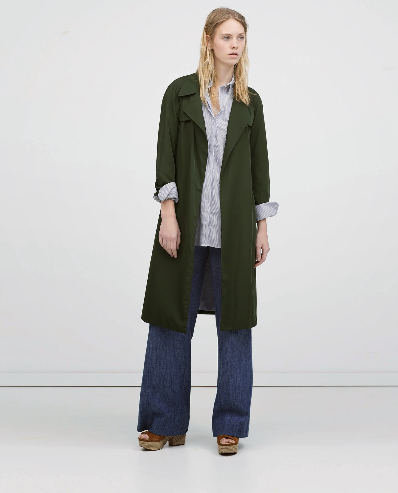 zara green coat,