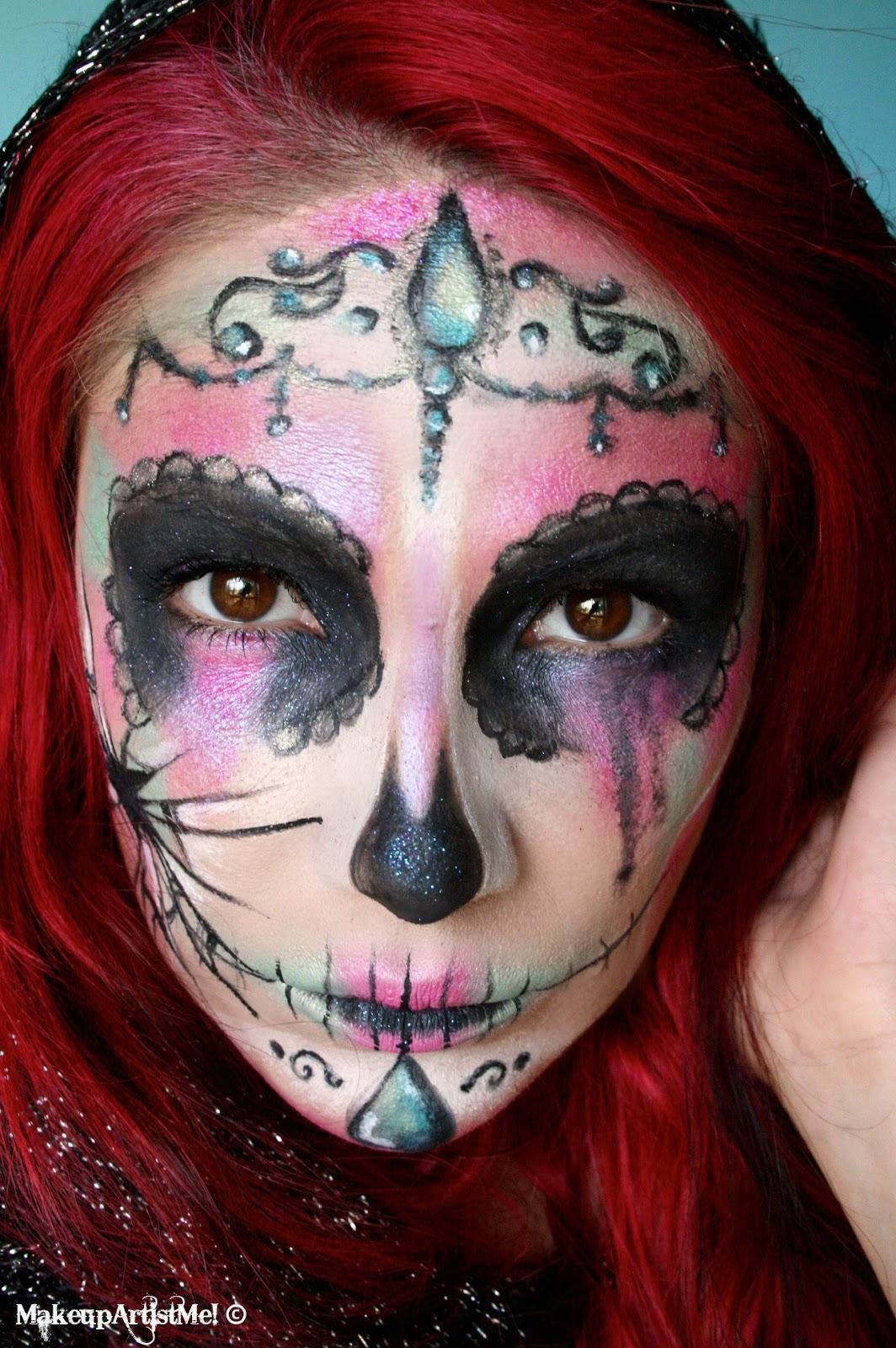 Make Artist Broken Catrina Halloween Makeup Look
