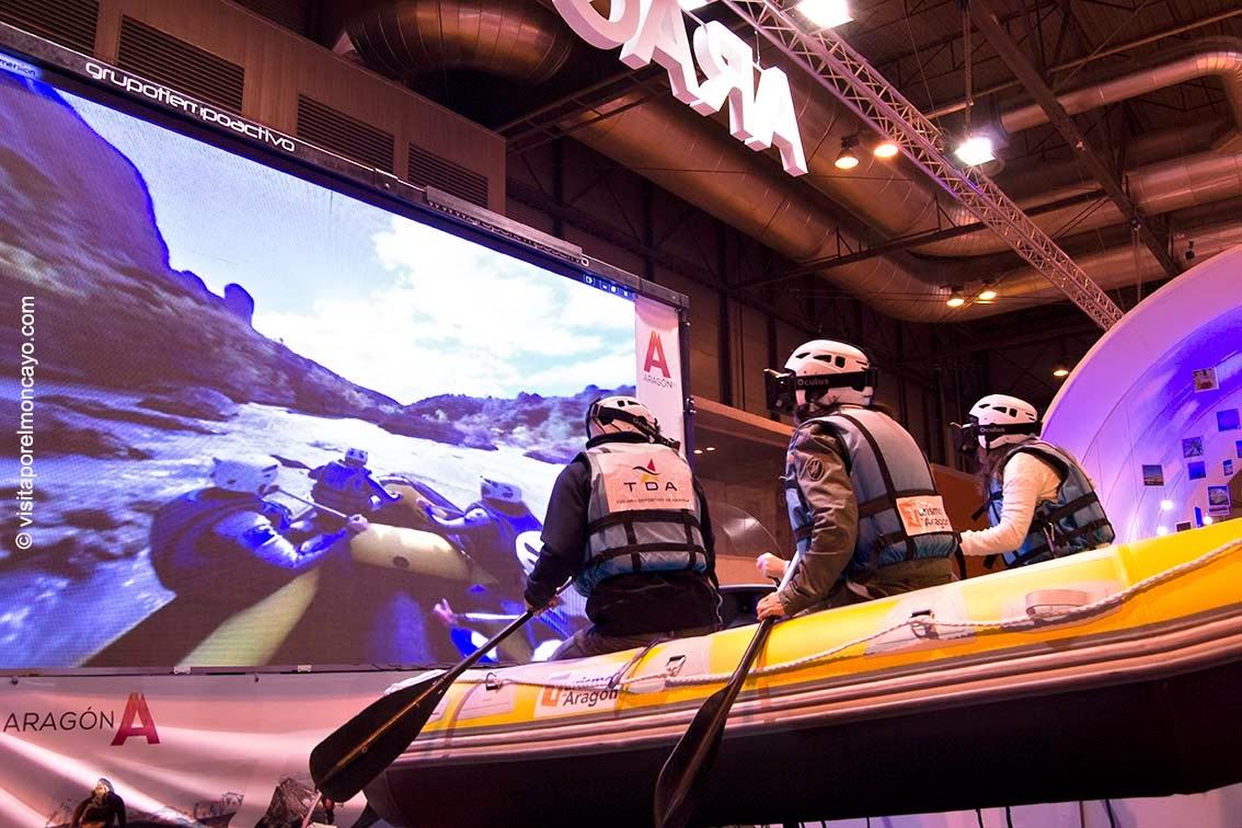Aragón Feria Turismo Fitur simulador rafting