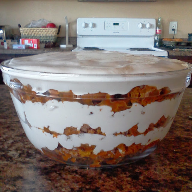 Crazy Old Ladies Quilts: Thanksgiving Recipe- Pumpkin Trifle