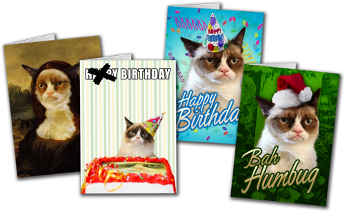 Grumpy Cat Greeting Cards