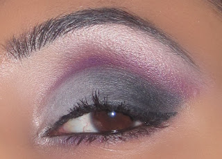mac, purple, grey, white, black, smokey, beauty, makeup, smokey, eyeshadow, blog, tutorial, sleek, ultra matte, v2, pallette