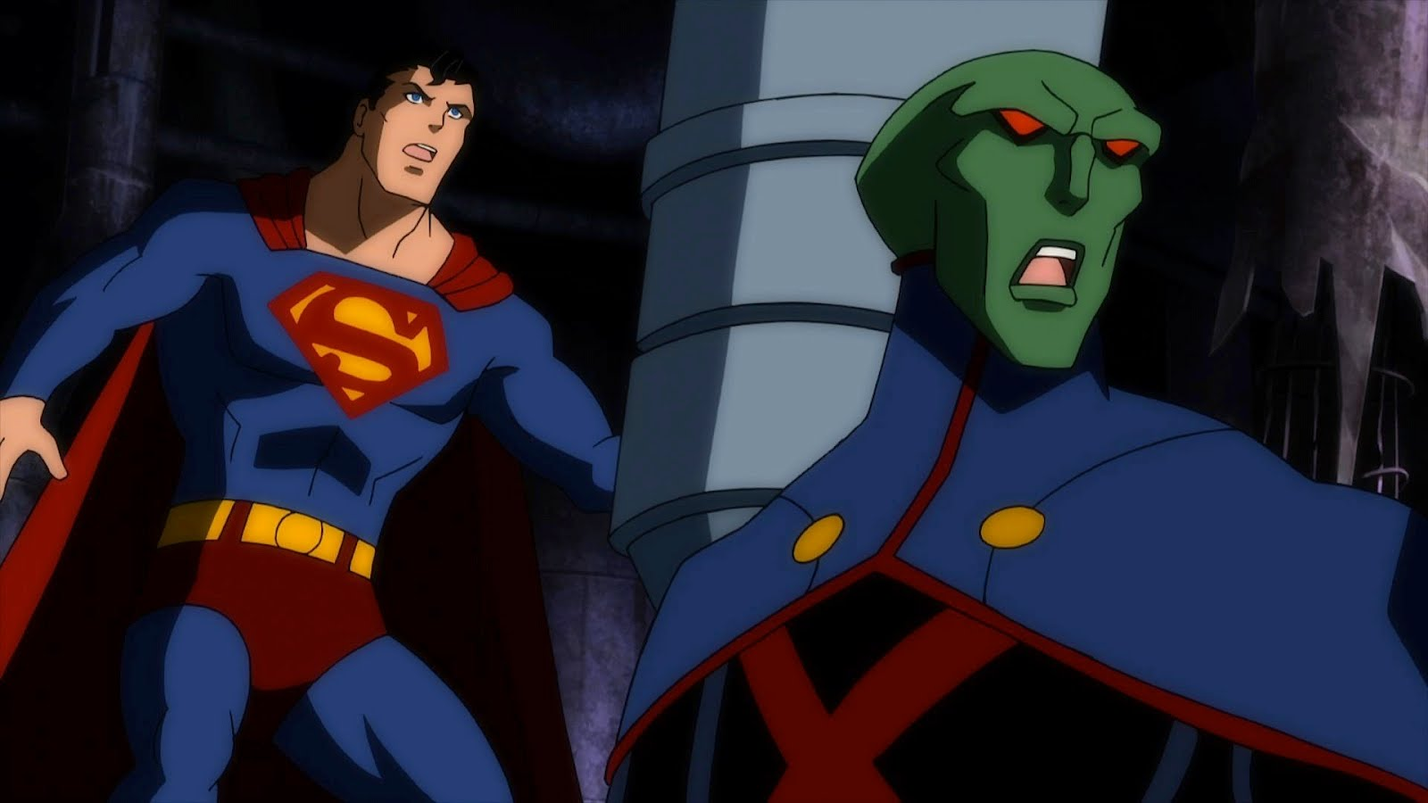 New JUSTICE LEAGUE  DOOM Screenshot of Superman  amp  Martian ManhunterSuperman Justice League Doom