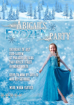 Personalized FROZEN party invitation (1)