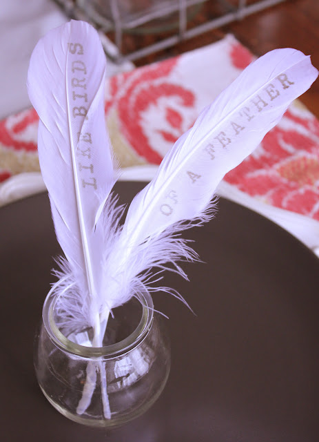 Valentine Feather Craft   www.adorbymelissa.com