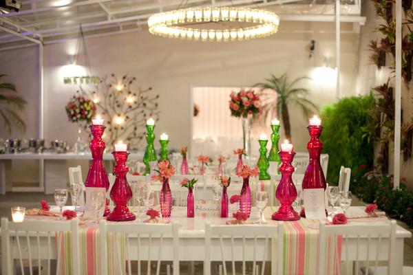 Solteiras Noivas Casadas~ Decoracao Casamento Verde E Rosa