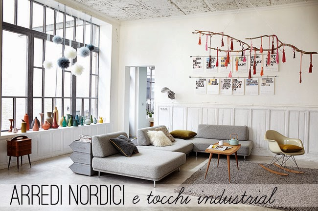divano letto stile nordico : Industrial style with romantic touches - Home Shabby Home ...