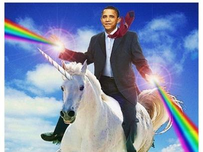 Obama unicornio