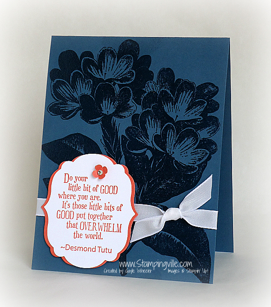 Stampin' Up! Sweet Floral stamp set card