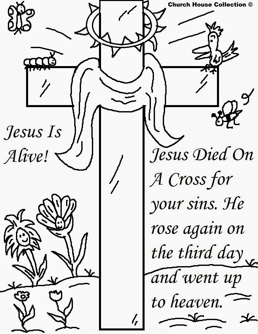 children christian coloring pages - photo#18