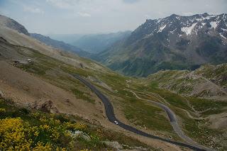 The descent off the Col Du Galibier towards the Col Du Lautaret