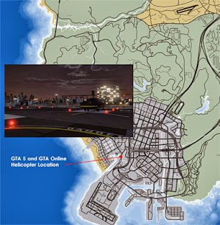 GTA 5 and Online Helicopter Location Map
