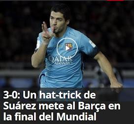 3-0: Un hat-trick de Suárez mete al Barça en la final