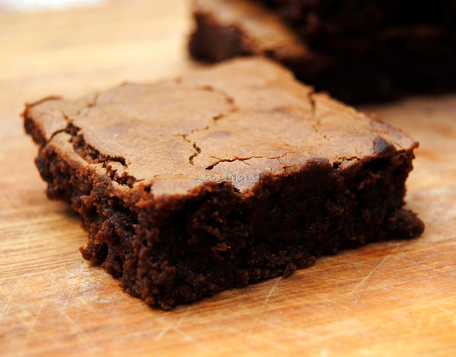 Asopaipas. Recetas de Cocina Casera .: Fudgy Chocolate Brownies