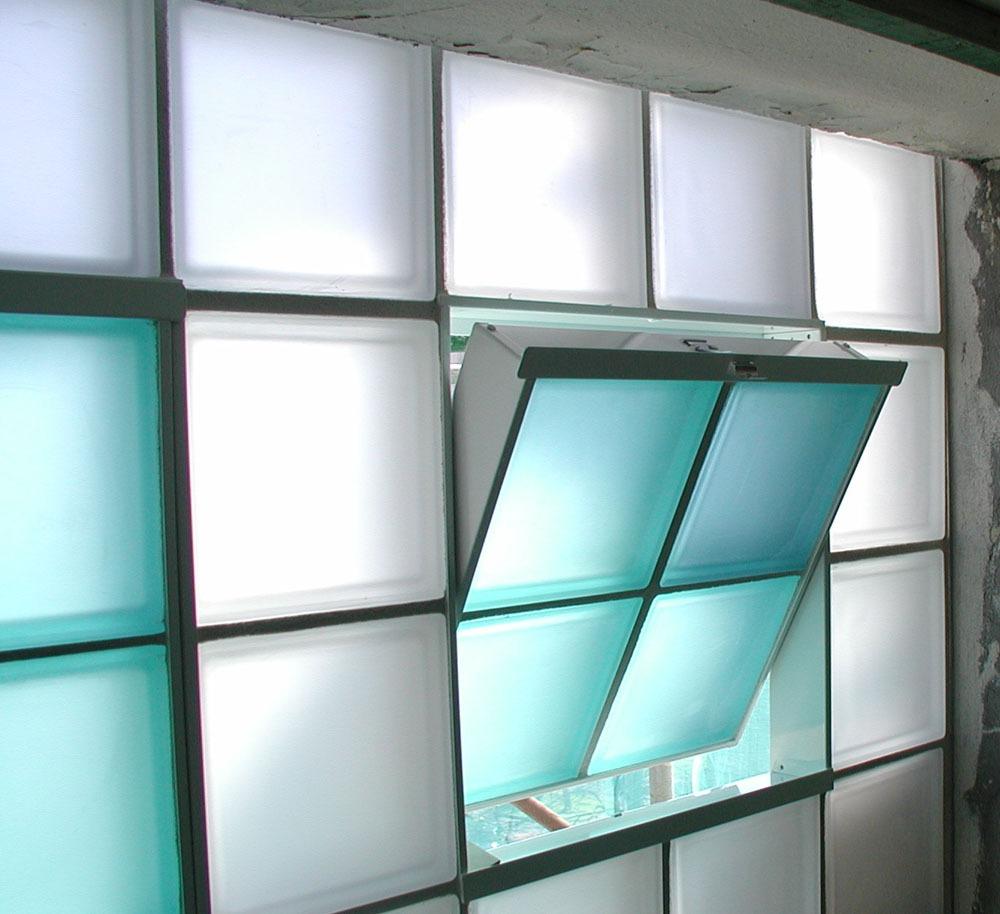 Mh reformas ideas para ventanas - Pared de bloques de vidrio ...