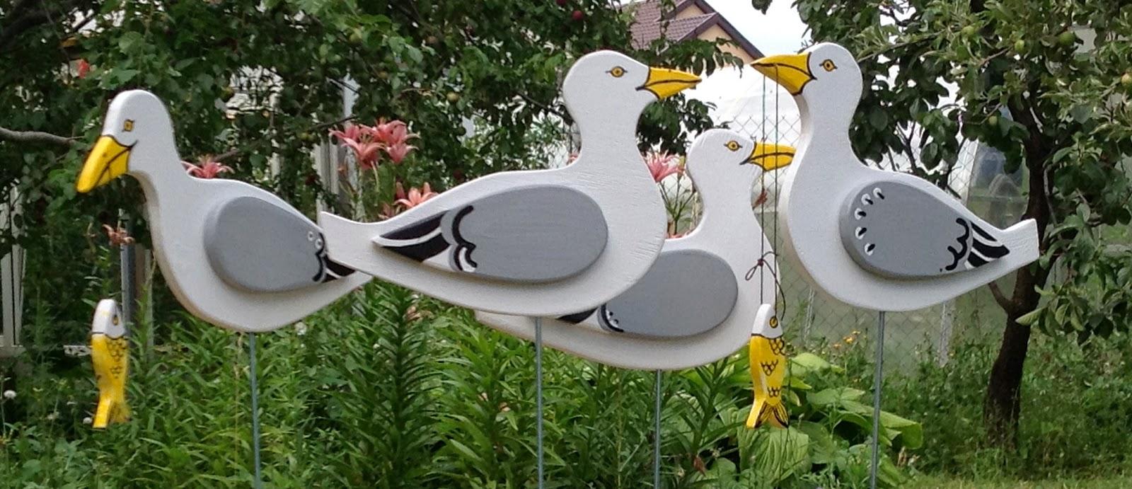 Поделка птицы на улице
