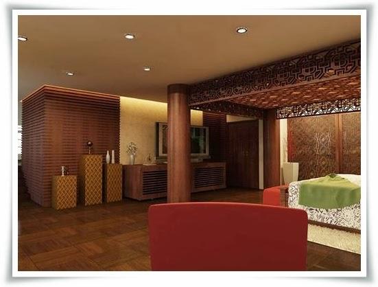 Không gian phòng ngủ tại Villas Saigon pearl