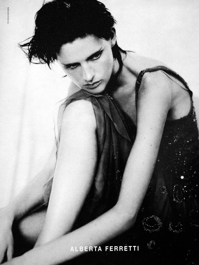 Stella Tennant by Paolo Roversi for Alberta Ferretti Spring/Summer 2000 campaign