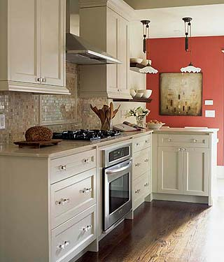 Sense and simplicity 17 ways to add colour to a white kitchen for Sarah richardson kitchen designs