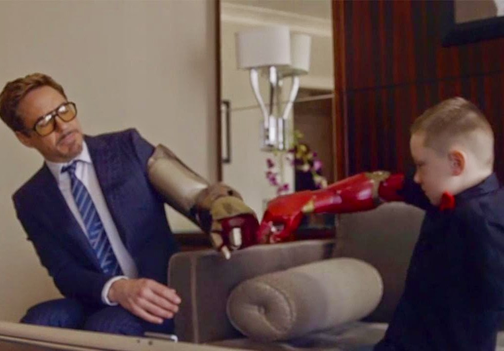 Watch Robert Downey Jr. Delivers Bionic Arm to a 7-Year-Old Boy