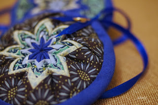 звезда новогодняя текстильная