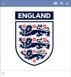 England Football Team Kode Emoticon Chat Facebook Klub (Team) Sepakbola