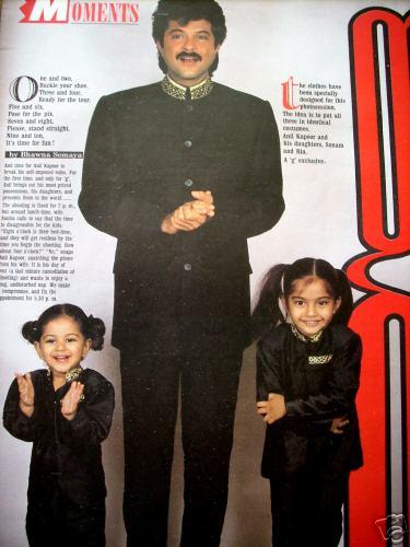 Sonam Kapoor In Childhood
