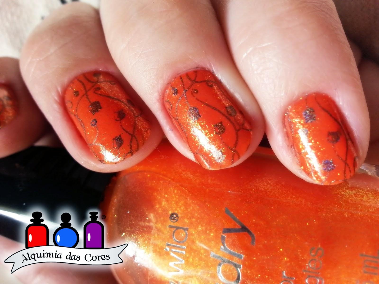 laranja, carimbo, holo