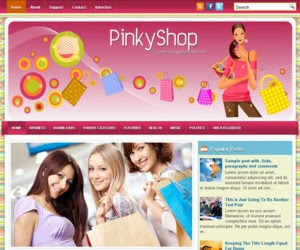 PinkyShop Blogger Template