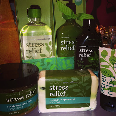 Bath & Body Works - Stress Relief 'Eucalyptus Spearmint' products in Inyouvations www.modenmakeup.com