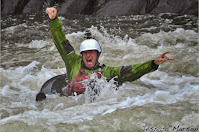 West Virgina WV, tube Upper Gauley river, Chris Baer escited green kokatat dry suit, whitewater, Chris Baer WhereIsBaer.com