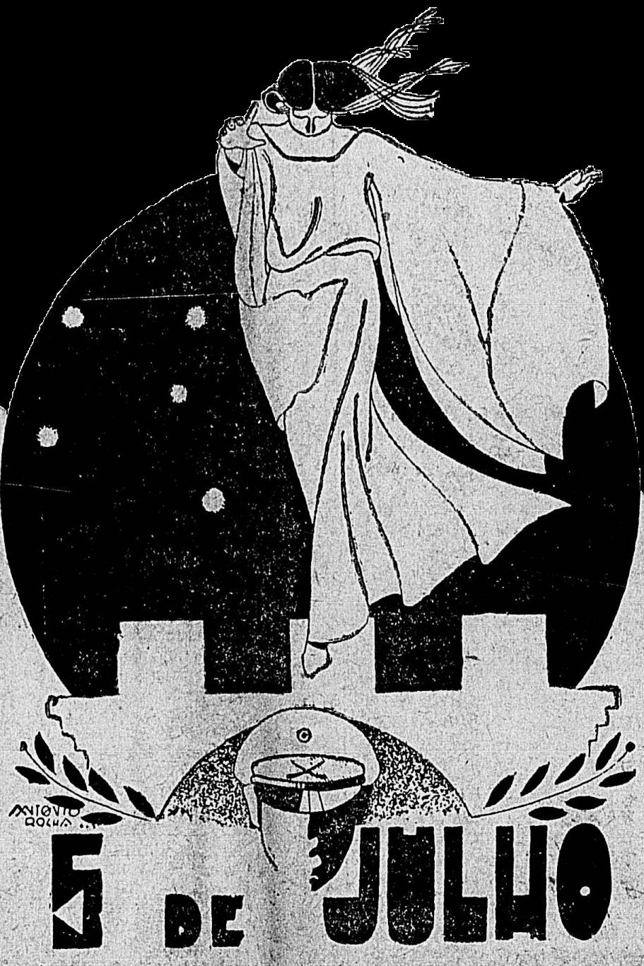 Imagem publicada no jornal Ilustração: Diário Carioca.  Ano IV número 927. Cinco de julho de 1931