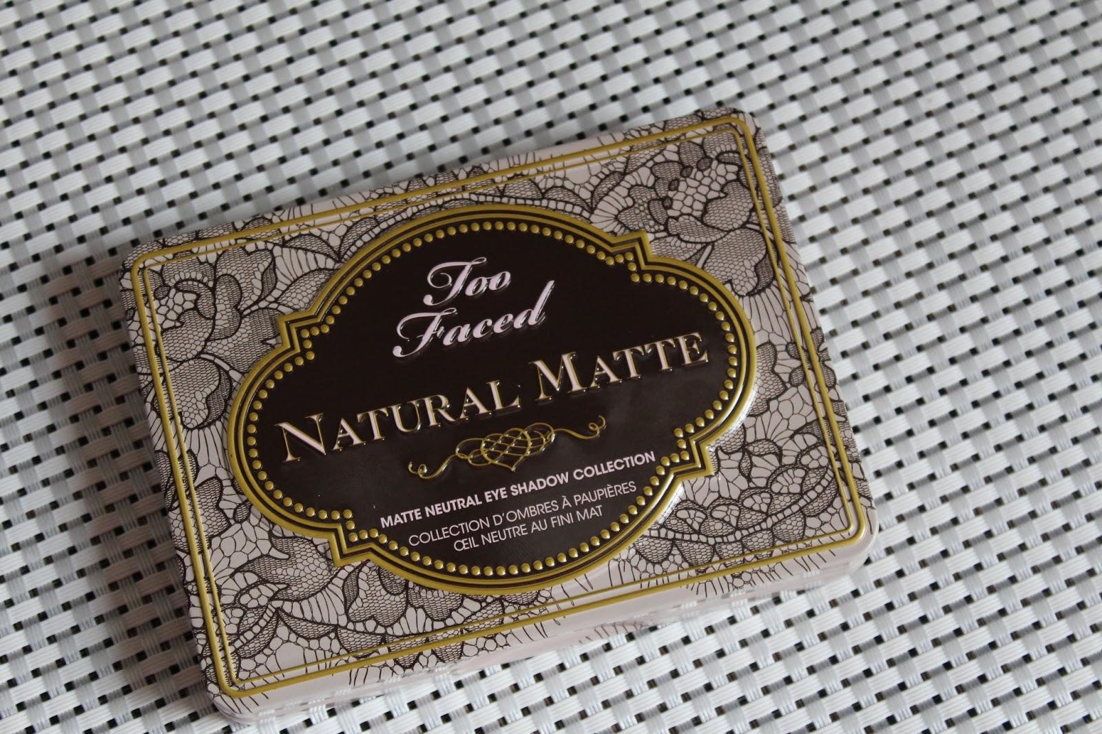 Too Faced Natural Matte paleta sjenila
