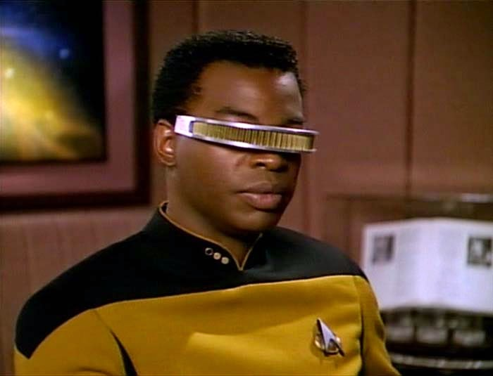 Google Glass, Google Glass Meme, why you shouldn't wear Google Glass, Star Trek, Geordi La Forge, Star Trek Next Generation, Star Trek Google Glass, Google Glass Stupid, Google Glass funny,