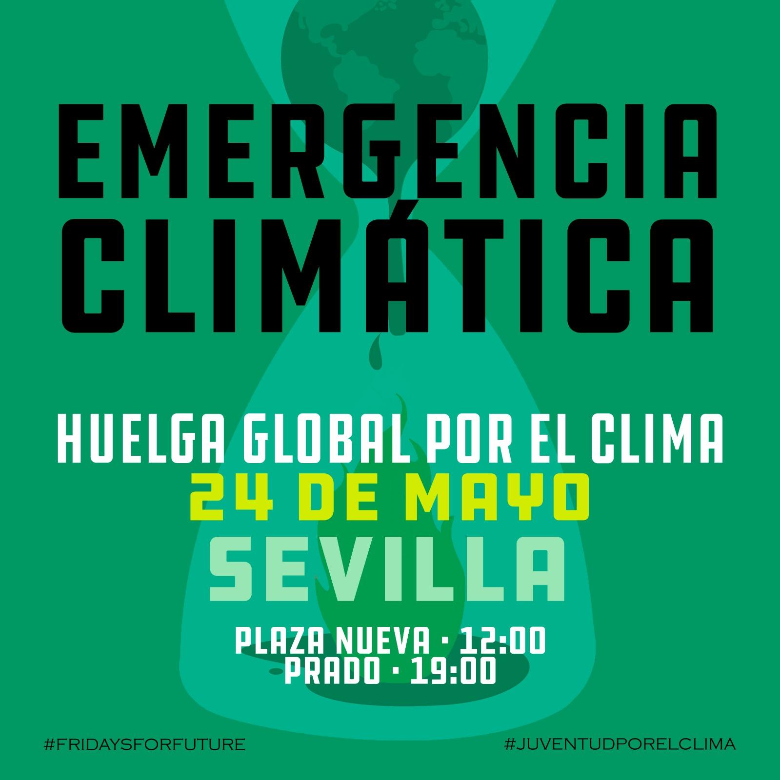 EMERGENCIA CLIMÁTICA. HUELGA GLOBAL POR EL CLIMA. 24 DE MAYO.