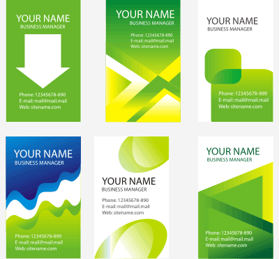 GREEN BUSINESS CARD CDR VECTOR